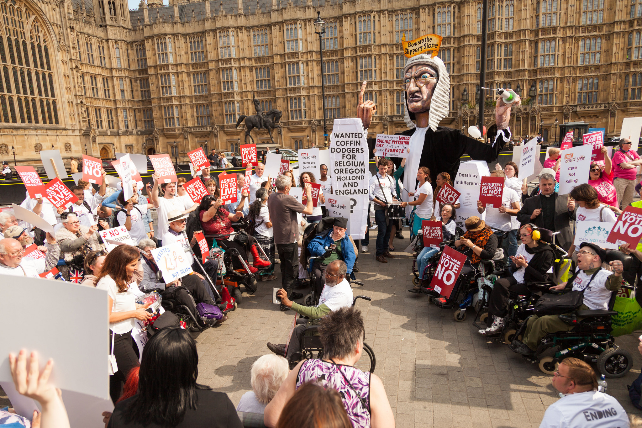 Disabled people protest rally